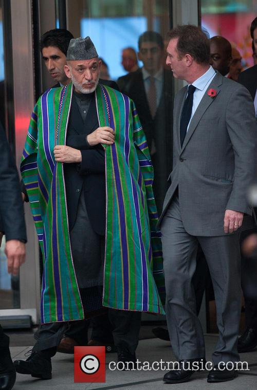 Hamid Karzai (l), President Of Afghanistan, James Harding (r), Bbc Director Of News and Current Affairs 2