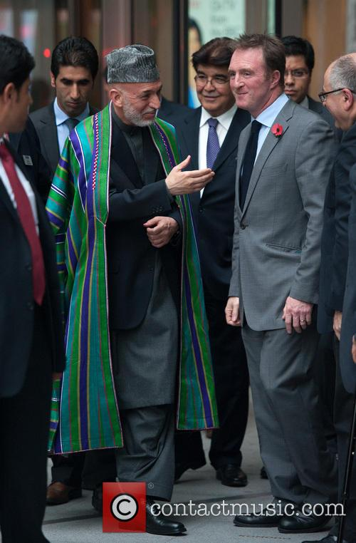 Hamid Karzai (l), President Of Afghanistan, James Harding (r), Bbc Director Of News and Current Affairs 1