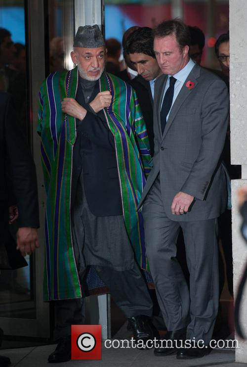 Hamid Karzai, President Of Afghanistan, James Harding, Bbc Director Of News and Current Affairs 1