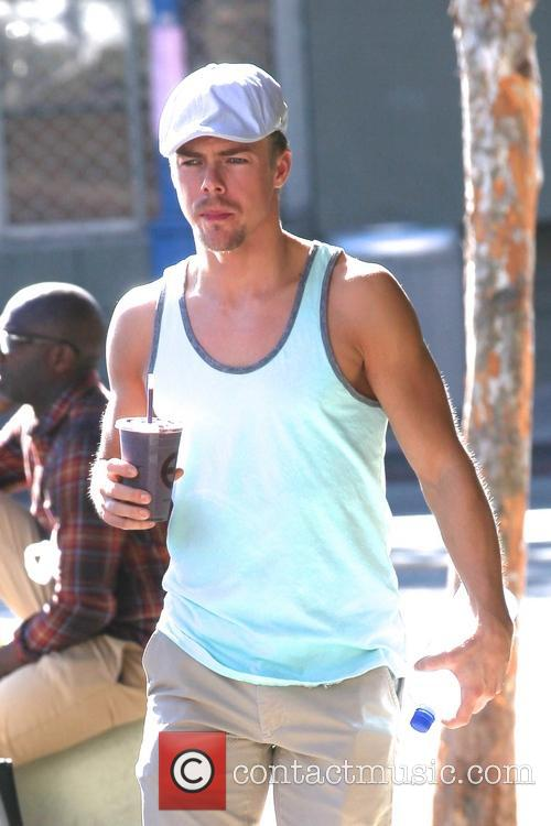 Derek Hough gets a health shake