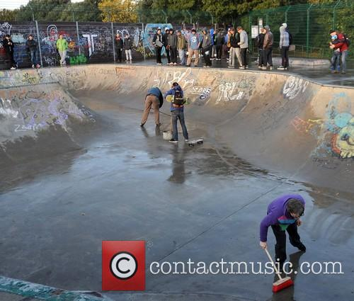 Tony Hawk at Bushy Park Skate Park