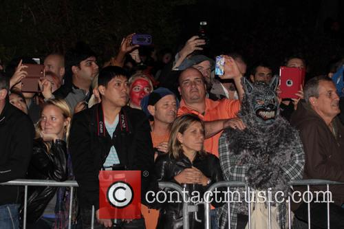 Kelly Ripa and Halloween Crowds 3