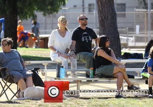 Heidi Klum attends football practice