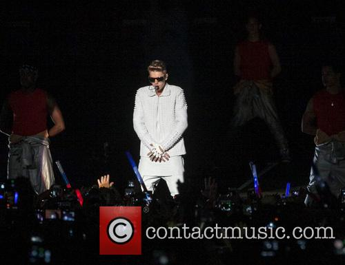 Justin Bieber performs live