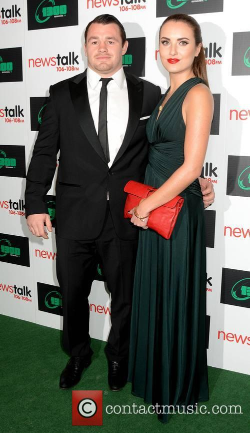 Cian Healy and Holly Carpenter