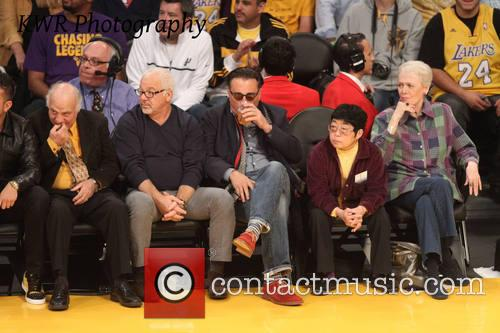 andy garcia celebs at the lakers game 3932670