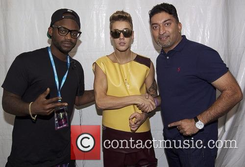 Justin Bieber, Dj Tay James and Sheeraz Hansan 3