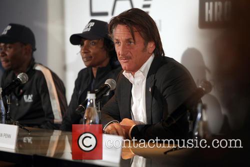 J P HRO with Sean Penn and ING NYC Marathon