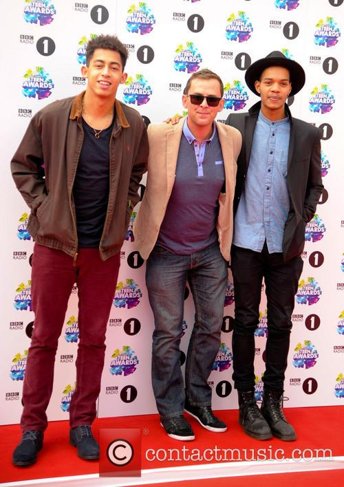 Scott Mills, Rizzle Kicks, Jordan Stephens and Harley  Alexander-sule 2