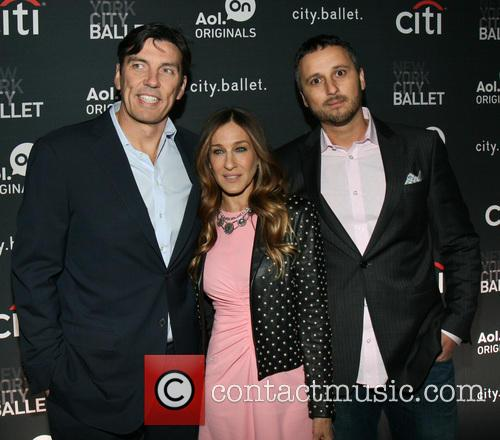 Tim Armstrong, Sarah Jessica Parker and Ran Harnevo