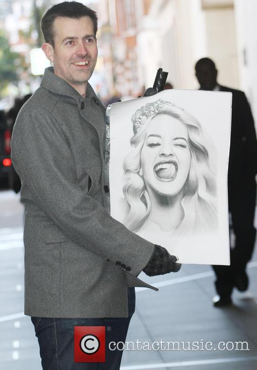 Rita Ora leaving the Radio 1 studios after...