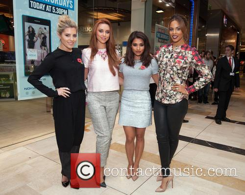 Mollie King, Una Healy, Vanessa White and Rochelle Humes 2