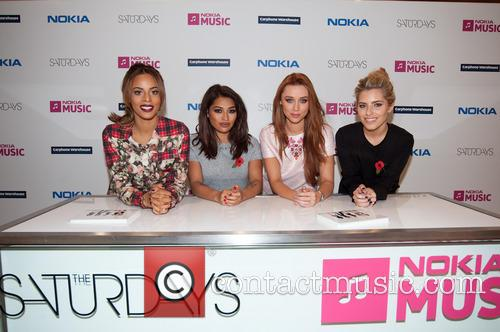 Mollie King, Una Healy, Vanessa White and Rochelle Humes 6