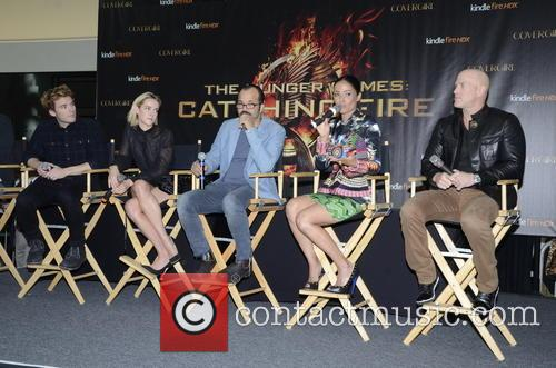 Sam Claflin, Jena Malone, Jeffrey Wright, Meta Golding and Bruno Gunn 1