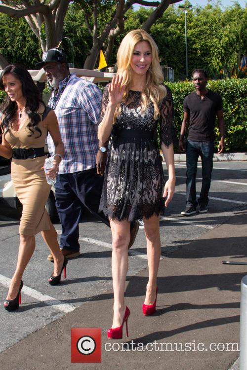 Real Housewives of Beverly Hills film at 'Extra'