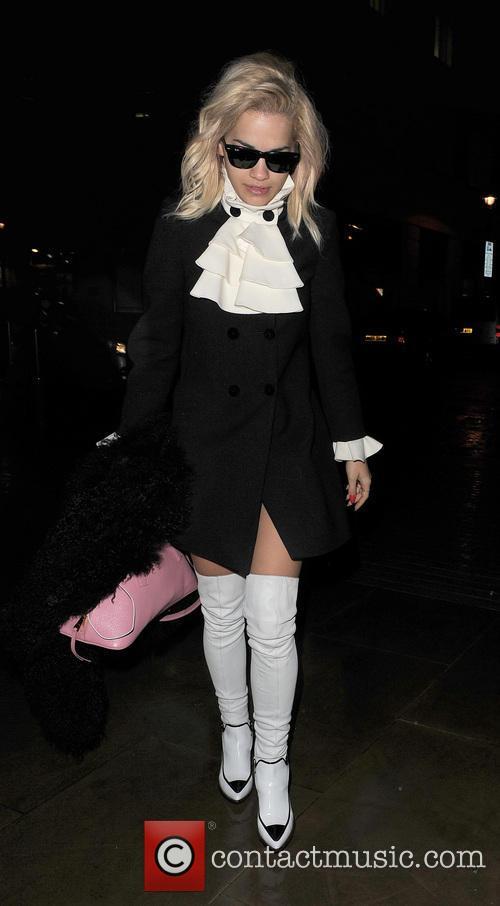 Rita Ora arriving at the Radio 1 studios...