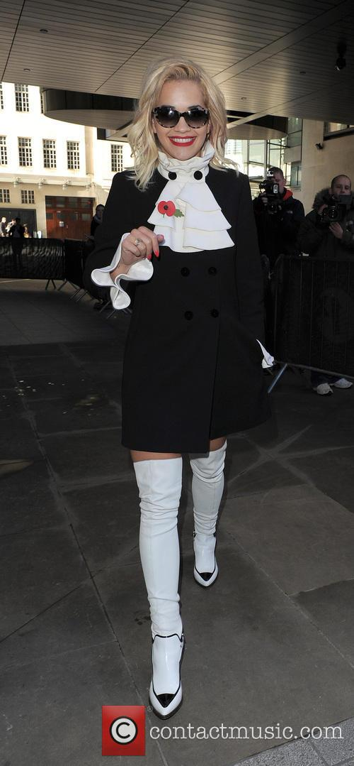 Rita Ora leaving the Radio 1 studios and returning home, after co-hosting the Radio 1 Breakfast Show with Nick Grimshaw