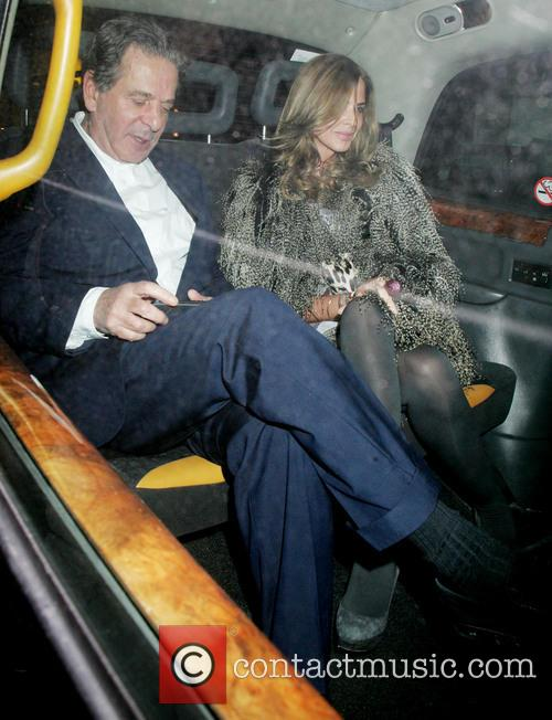 Charles Saatchi and Trinny Woodall at Scotts