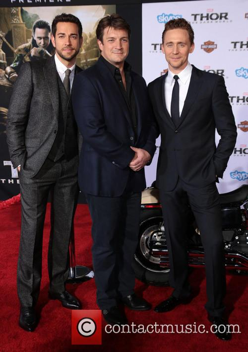 Zachary Levi, Nathan Fillion and Tom Hiddleston 7