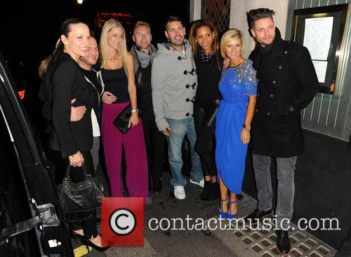 Karen Corradi, Mikey Graham, Storm Uechtritz, Ronan Keating, Shane Lynch, Sheena White, Lisa Duffy and Keith Duffy 1