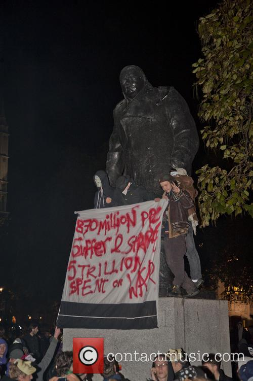 Thousands of activists from various anti-austerity groups protest...