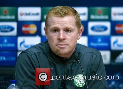 Neil Lennon, Manager of Celtic F.C., attends a...