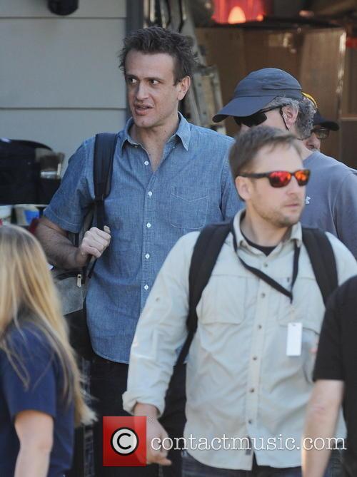 Cameron Diaz and Jason Segel on the set...