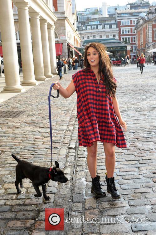 Charlotte Crosby PETA photocall