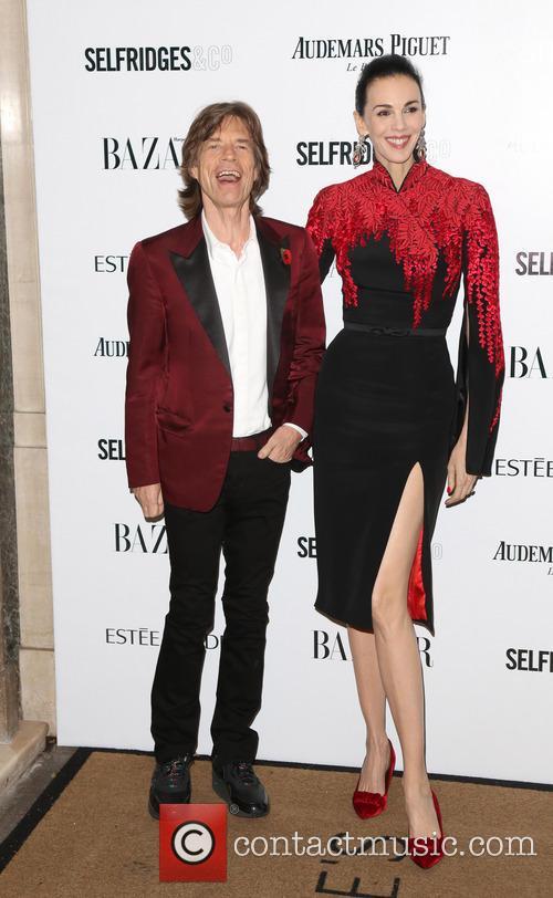 Mick Jagger and L'wren Scott 4