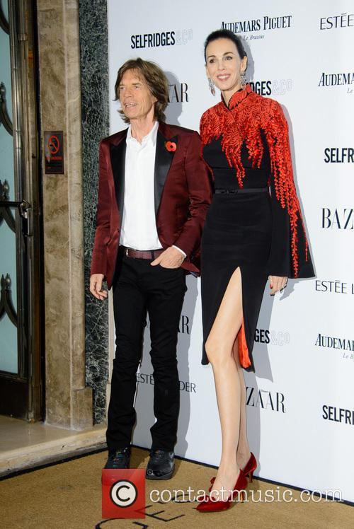Sir Mick Jagger and L'wren Scott 2