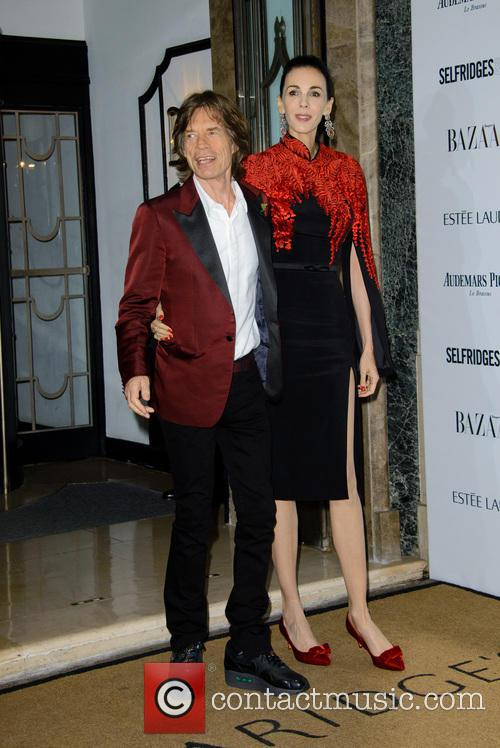 Sir Mick Jagger and L'wren Scott 3