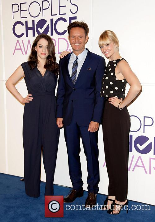 Kat Dennings, Mark Burnett and Beth Behrs 2