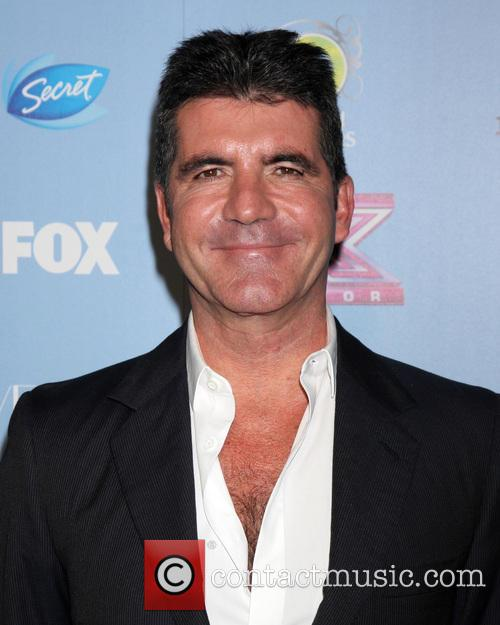 Simon Cowell at The X Factor USA Top 12 Party