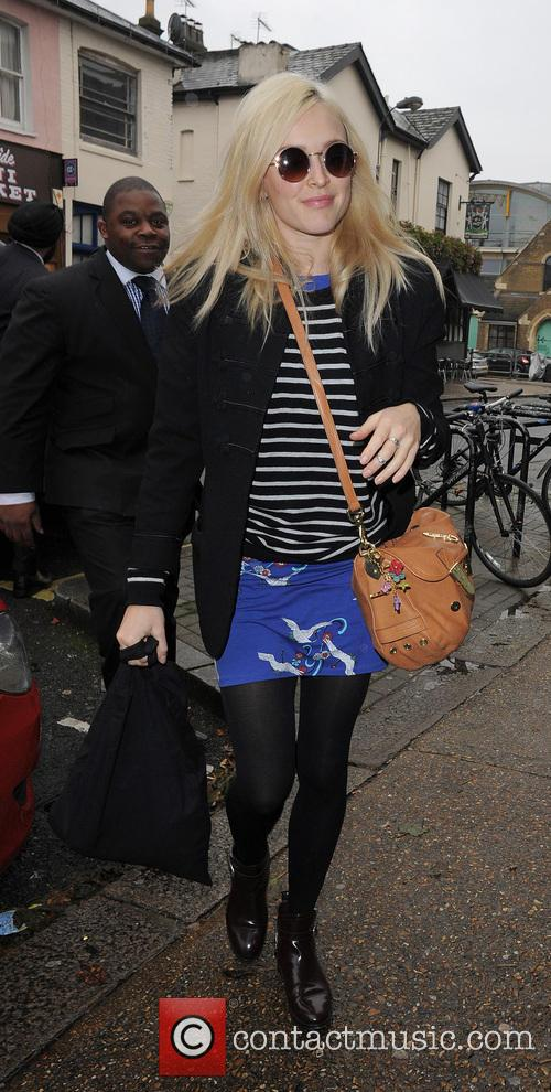 Fearne Cotton and Holly Willoughby arriving at the...