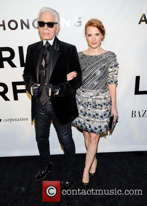 jessica chastain karl lagerfeld an evening honoring karl 3939666
