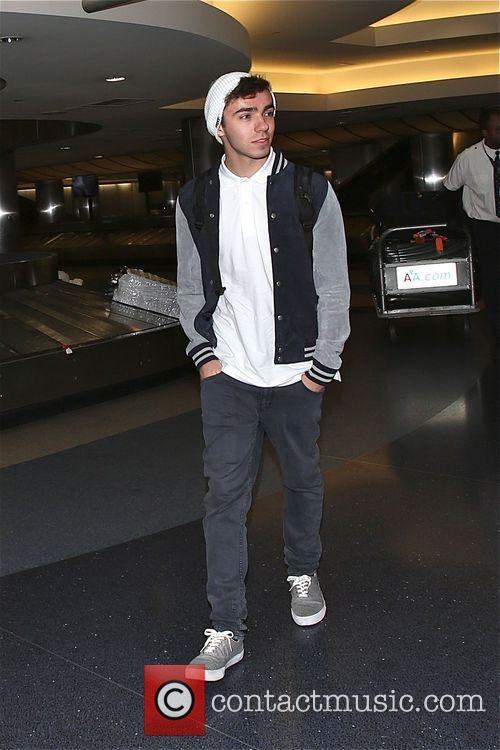 The Wanted arrive in Los Angeles at LAX