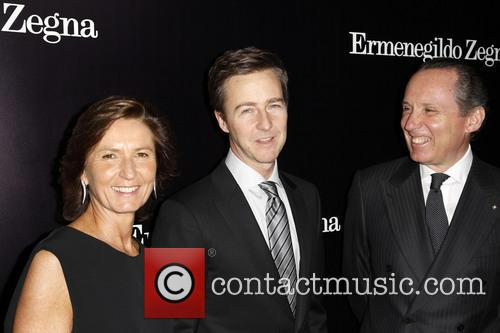 Anna Zegna, Edward Norton and Gildo Zegna 5