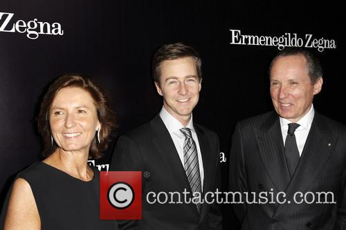 Anna Zegna, Edward Norton and Gildo Zegna 1
