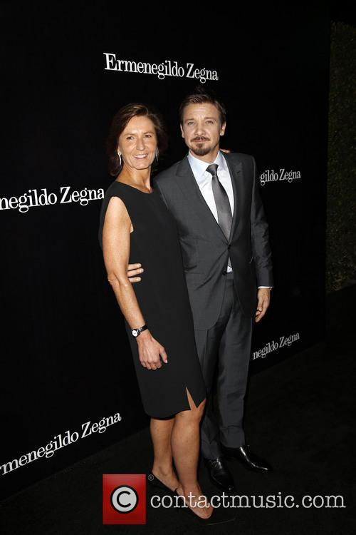 Anna Zegna and Jeremy Renner 2