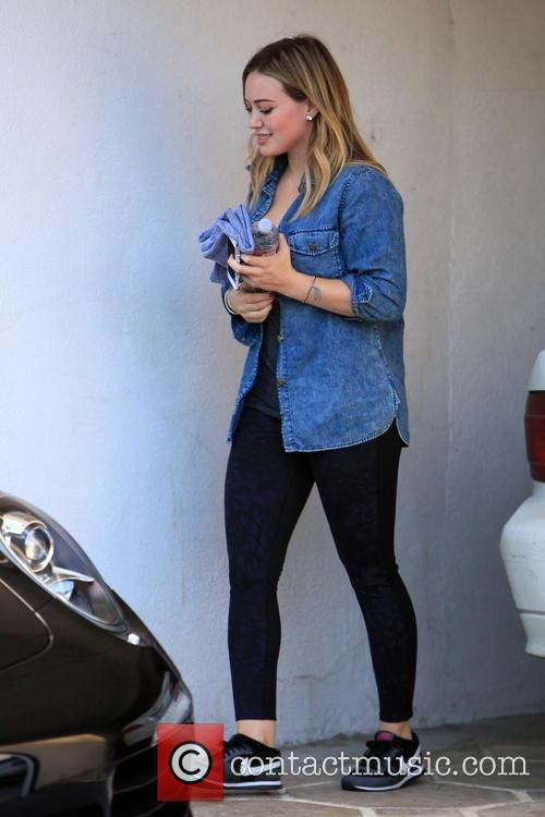 Hilary Duff Leaving A Gym