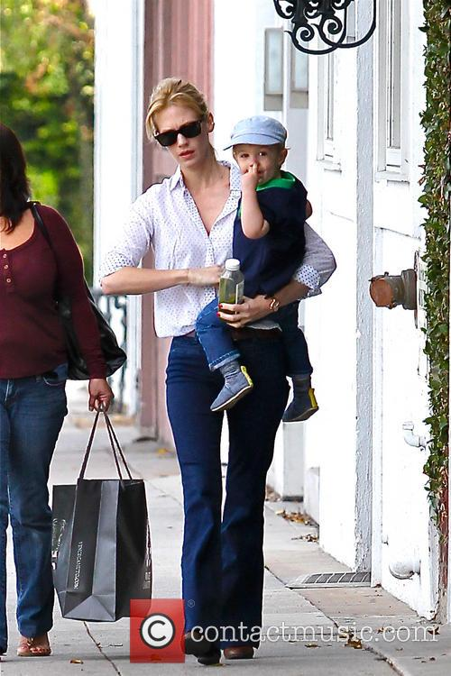 January Jones and Xander Dane Jones 3