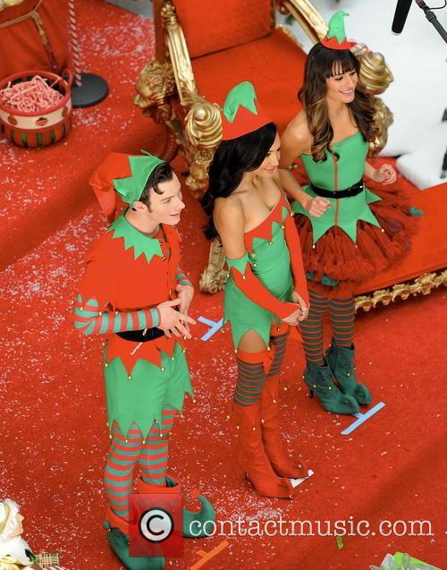Lea Michele, Naya Rivera, Chris Colfer