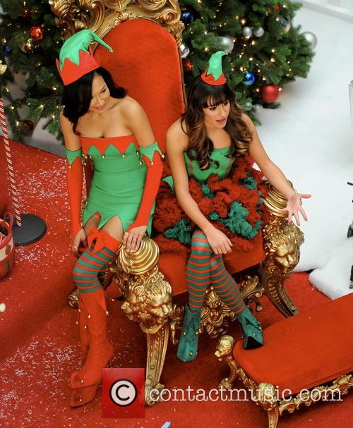 Lea Michele and Naya Rivera 4
