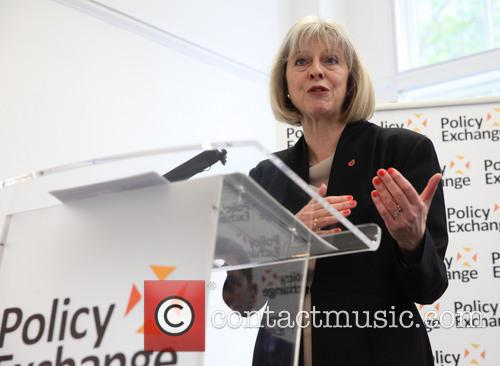 Theresa May delivers a speech at the Policy...