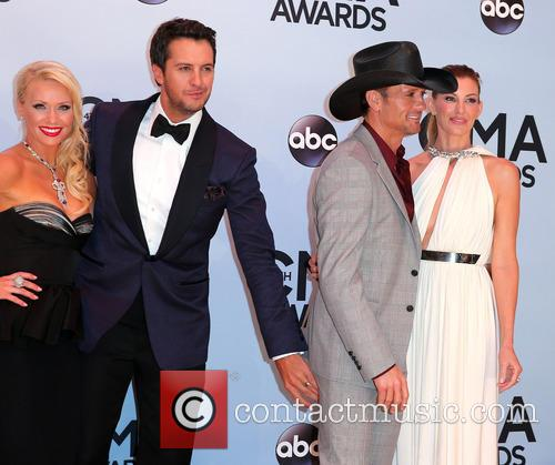 Faith Hill, Luke Bryan, Tim Mcgraw and Caroline Boyer 3