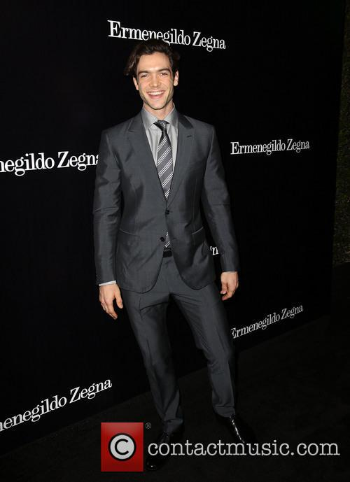 Ethan Peck, Ermenegildo Zegna Boutique on Rodeo Drive in Beverly Hills