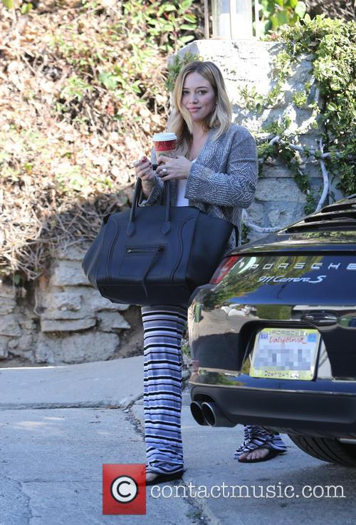 Hilary Duff visits a private residence
