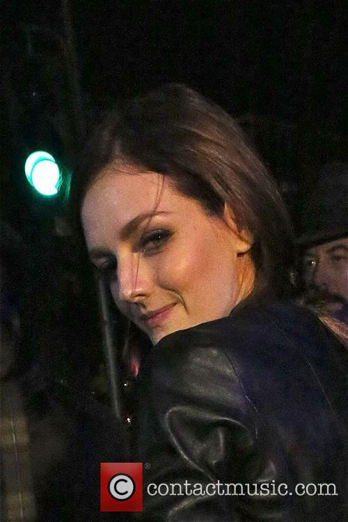 Lydia Hearst signs autographs at Hakkasan restaurant