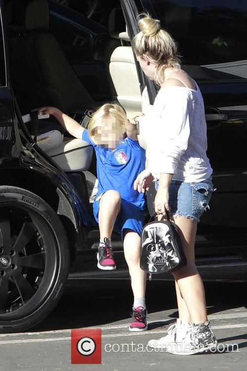 Zuma Rossdale out and about with his nanny