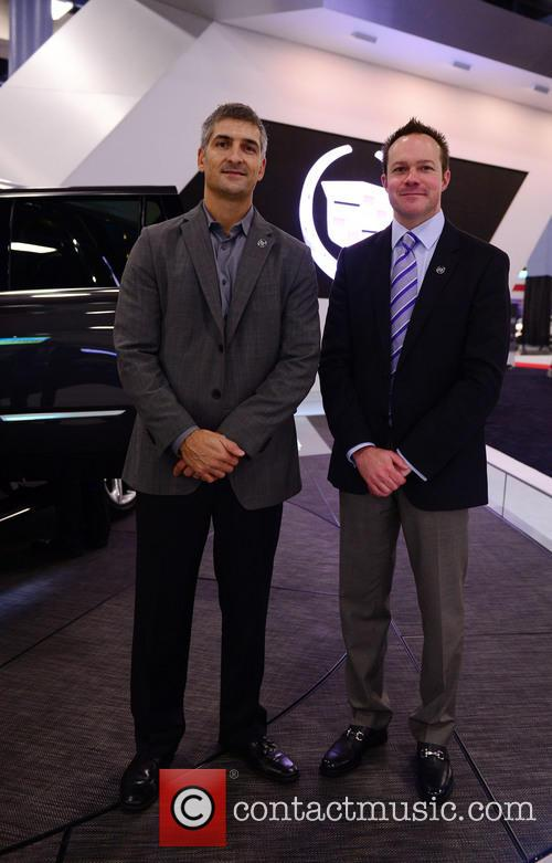 Micheal Stapleton Cadillac Design Director and Bill Peffer U.s. Vice President Of Cadillac Sales & Services Introducing 2014 Cadillac Escalade 2